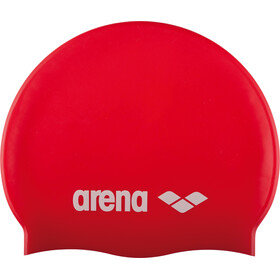 arena Classic Silicone Swimming Cap Juniors red-white